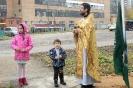 После Воскресной Литургии и чина освящения начались занятия в Воскресной школе