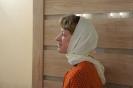 После Богослужения прихожане посмотрели новый фильм про преподобного Александра Свирского