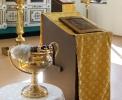 В Рождество Иоанна Крестителя совершена Божественная Литургия, освящена икона в его честь