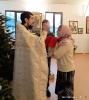 После Литругии в день памяти святителя Василия Великого прихожане поздравили батюшку с Тезоименитством